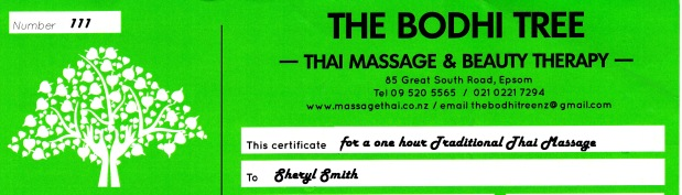 Thai Massage Gift Voucher
